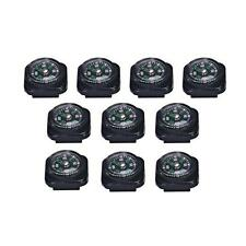 10PCS Mini Precise Compass for Paracord Bracelet Outdoor Camping Hiking Tool