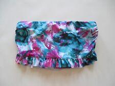 BECCA Aqua Pink Tie Dye Ruched Side Bathing Skirtini Swim Skirt Bottom L