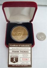 HIGHLAND MINT BRONZE MEDALLION FRANK THOMAS LIMITED EDITION COA 13387/25000 COIN