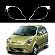 Chrome Headlight Lamp Molding Trim Cover for 05-09 Chevrolet Spark/Matiz/Joy
