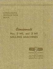 Cincinnati 2 Ml and 2 Mi Operator's Manual