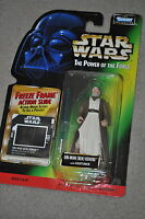 STAR WARS POWER OF THE FORCE OBI-WAN BEN KENOBI LIGHTSABER FREEZE FRAME MOSC