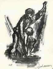 Lucien FONTANAROSA - LIEBE - 1963 Handsigniert Druckgraphik auf ARCHES-Bütten