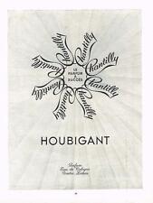 PUBLICITE ADVERTISING  1952   HOUBIGANT  pafum  CHANTILLY