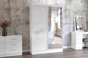 Modern Sleek Luxury High Gloss Lynx Bedroom Furniture By Birlea