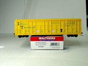 WALTHERS HO SCALE 56' THRALL DOOR BOX CAR ILLINOIS TERMINAL 910-60604