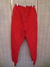 Vintage Long Johns Osh Kosh B'Gosh Thermal Underwear Ski Pants Red RARE