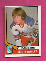 1974-75 OPC # 393 RANGERS JERRY BUTLER  ROOKIE EX-MT CARD (INV# A9943)