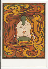 Vintage Postcard Post Card Continental The Kiss by Peter Behrens Germany ac15