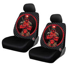 New Deadpool Repeater Car Truck 2 Front Seat Covers with Headrest Covers