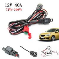 Wiring Harness Kit w/ Fuse Relay Switch for LED Light Bar Fog Light Bar Offroad