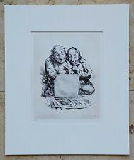 A. Paul WEBER (1893-1980) Lithographie 1981 Nachlass-Signiert DIE LIEBHABER