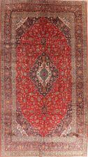 ANTIQUE Excellent Traditional Floral LARGE RED Area Rug Hand-Knotted Wool 10x18