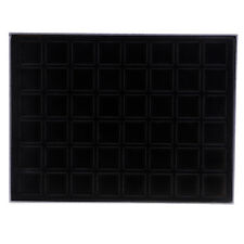 48 Grid Velvet Frame Series Coin/Jewelry Display Storage Tray 36x36mm -Black