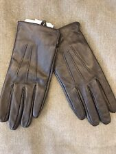 ACCESSORIZE REAL LEATHER BLACK GLOVES SIZE M/L RRP £20