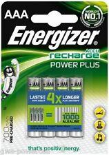 4 x Energizer AAA Micro Akku NiMH 700mAh Blister Power Plus Ideal für MP3 Player