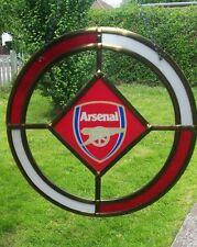 Arsenal F.C glass Window hanging / suncatcher 8 inch circle  solid glass