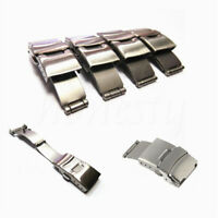 18-24mm Watch Band Strap Stainless Steel Butterfly Deployment Clasp Buckle