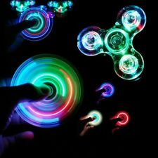 Fidget Spinner Spinners Hand Toy Luminous Led Light  Glow In Dark Light  Relief
