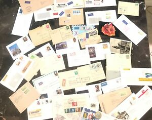 40 East & West Germany Postcard Postal Stationary Covers Collection Lot MXE