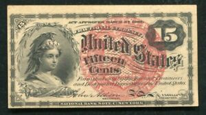 FR. 1267 15 FIFTEEN CENTS FOURTH ISSUE FRACTIONAL CURRENCY NOTE UNCIRCULATED