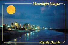 Full Moon over Myrtle Beach Surf Hotels Postcard