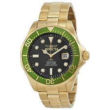 Invicta Pro Diver Black Dial 18kt Gold-plated Mens Watch 14358