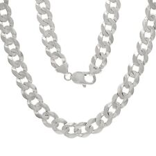 "Solid 10K White Gold 22"" Cuban Link Chain Necklace 48-50 grams 9.5 mm"