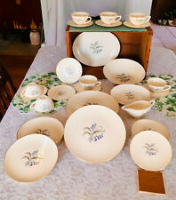 """Vintage Edwin Knowles """"Bluebells"""" dishes/gold trim ,31 pieces,available by piece"""