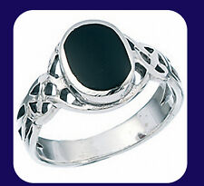 Onyx Ring Celtic Ring Sterling Silver Onyx Ring