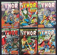 Mighty Thor Comics (Lot of 6) Vintage 1973-75
