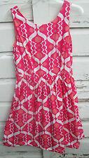 Boden Womens Pink Sleeveless Print Dress Size 8 R Regular