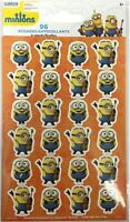 96 Despicable Me Minions stickers 4 sheets of 24 teacher supply party reward