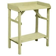 Ablagefach Pflanztisch klappbar 90x40x86cm Holz Tisch verzinkte Arbeitsplatte m