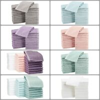Pack Of 24 Cotton Face Washcloths Wash Cleaning Hotel Barber Gym Salon Cloth New