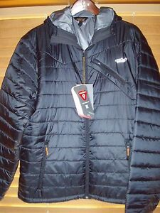 Orvis TROUT BUM  Fly Fishing  Large Black Primaloft Hooded Jacket