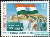 India 1972 25th Anniversary of Independence Flag stamp 1v MNH