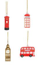 4 Gisela Graham pendant Londres Décoration de Noël Big Ben B &