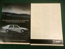 SAAB 9000 CD INJECTION 1989 POSTER ADVERT READY FRAME A3 SIZE B