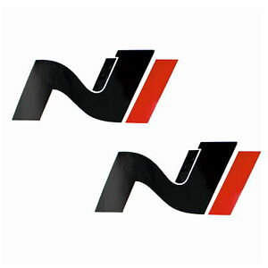 Hyundai i30 N Cover 2er Set Carbon/Schwarz/Rot Emblem Folie Front+Heck K054