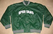 Michigan State Spartans NCAA Varsity Jacket Coat Green Vintage Retro 90s mens XL