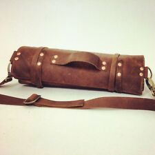 Leather Chef's Knife Roll , Chef's Bag , Genuine Leather Knife Roll,