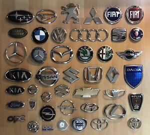 Auto Embleme Konvolut Audi, VW, BMW, Seat, Honda