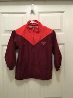 Virginia Tech Hokies Youth Nike Maroon Orange Full Zip Jacket Size 7