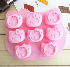 Soap Mold Ice Mold Tray 8-Hello Kitty Head Silicone Inflexible Mold Candle Mould