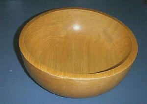 """Light Wood Fruit / Salad / Serving Bowl - Marked JAPAN - 10"""" x 3 1/2"""""""