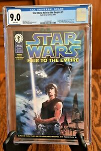 STAR WARS Heir To The Empire 1 CGC 9.0 White Pages 1st Mara Jade, Admiral Thrawn