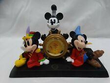 Disney Mickey Mouse Through the Years 75 Years Desk Clock - Nib