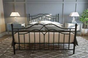 New Double Size Bed 4ft 6 Metal Steel Frame Modern Bedroom Bedframe UK Stock