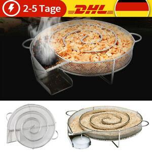 BBQ Kaltraucherzeuger Edelstahl Kaltrauchgenerator Sparbrand Räucherspirale DHL